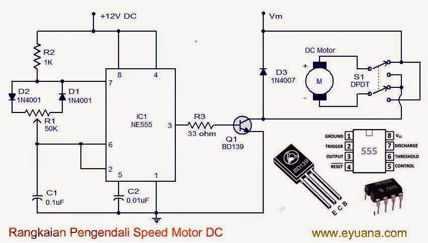 Rangkaian pengendali kecepatan motor DC