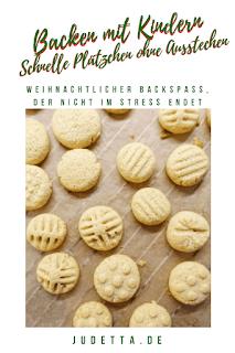 Weihnachtlicher Backspass ohne Küchenstress | Einfache Plätzchen ohne Ausstechen | judetta.de