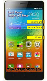 Hard Reset Lenovo K3 Note