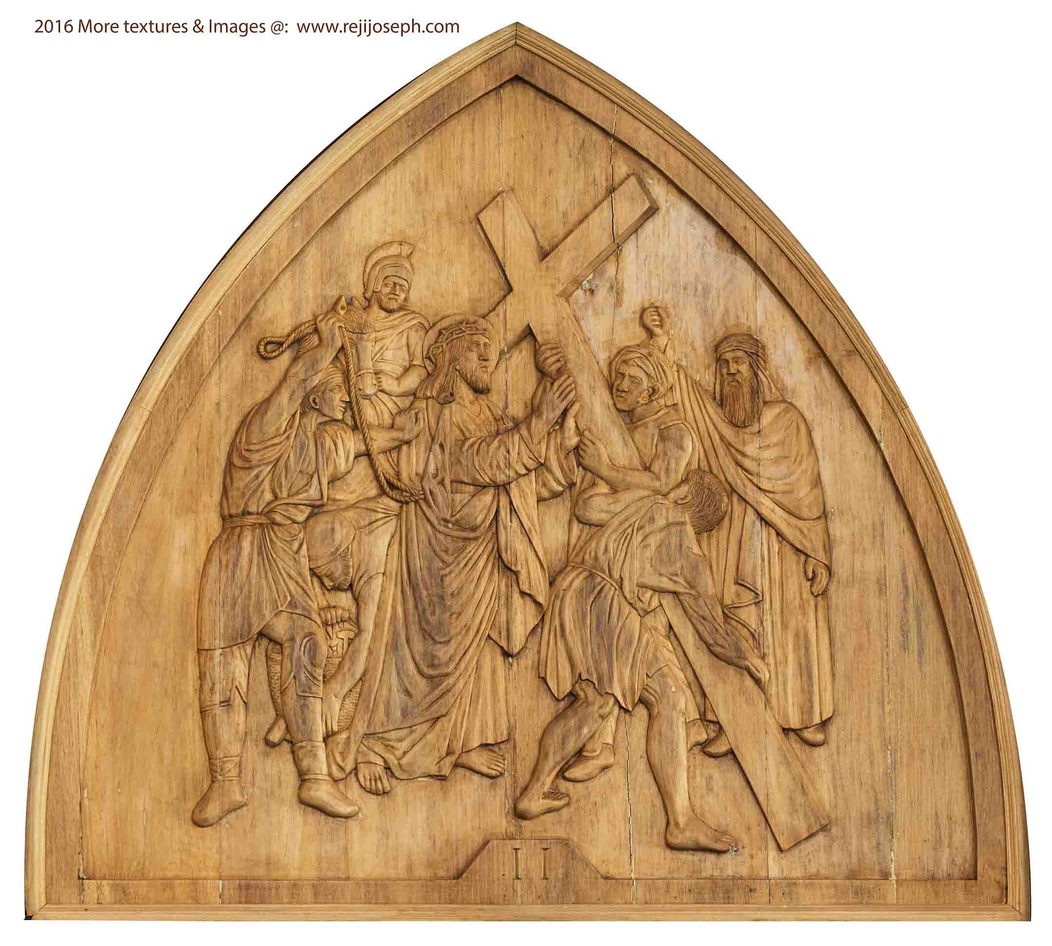 Way of the cross wooden relief 002