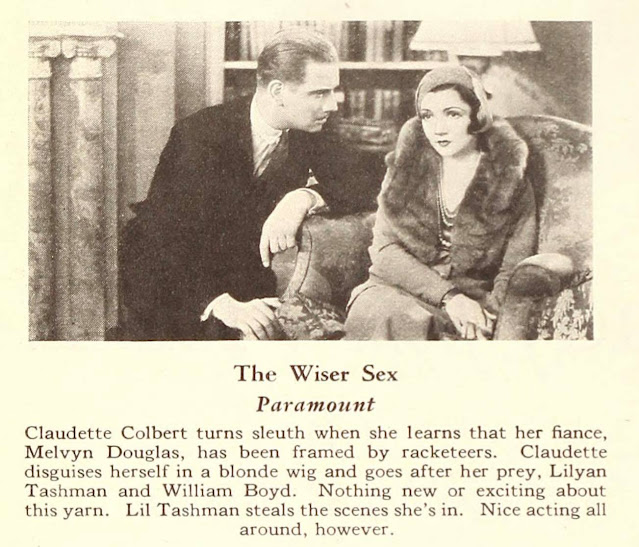 Claudette Colbert and Melvyn Douglas star in The Wiser Sex.