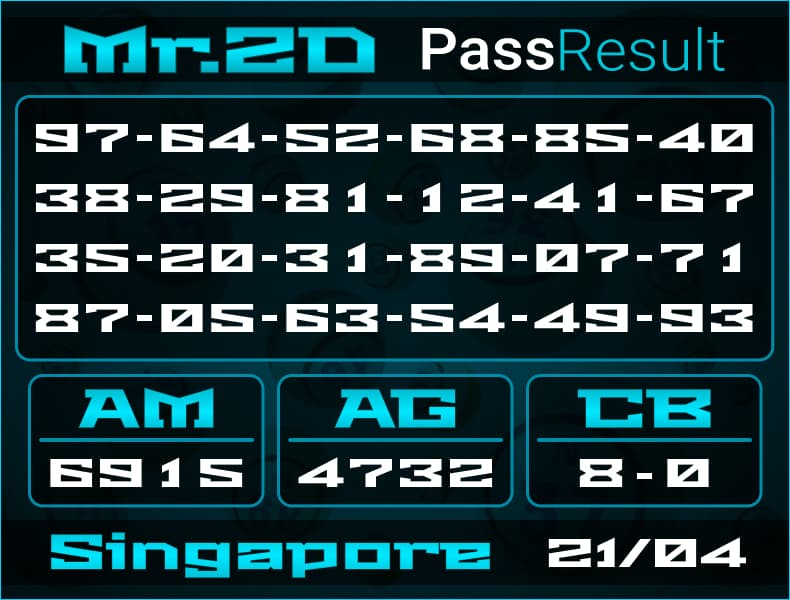 Mr.2D - Prediksi Togel Singapore