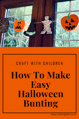 Craft with Children. How To Make Easy Halloween Bunting.