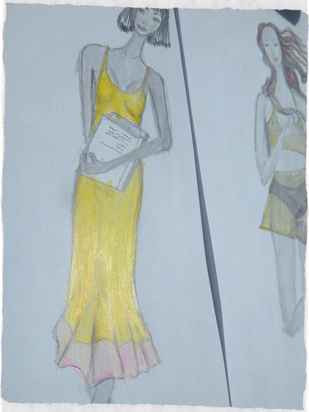 My Interpretation of The Birth Of Venus (My Fashion Illustration)