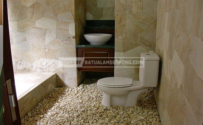 batu alam untuk kamar mandi