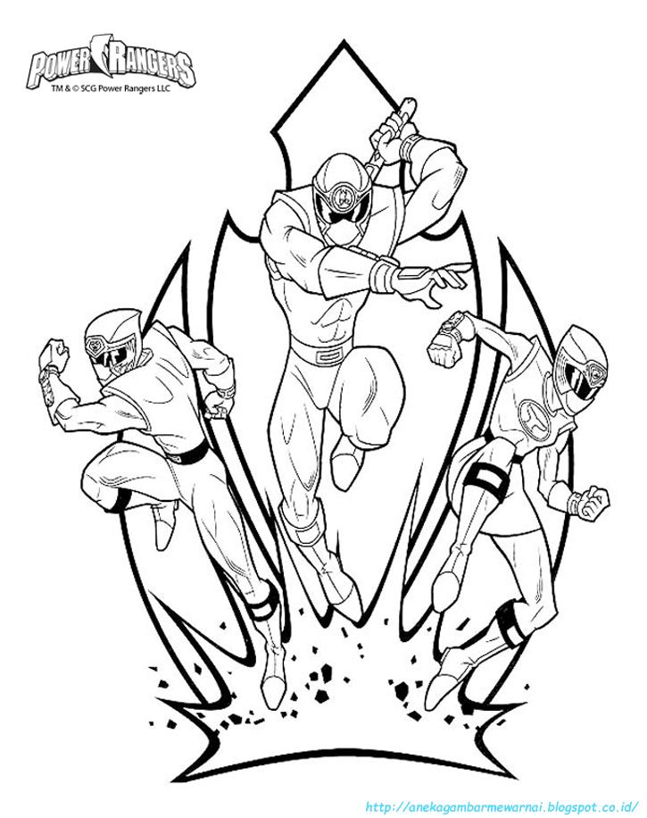 5 Gambar Mewarnai Power Ranger Untuk Anak Paud Dan Tk