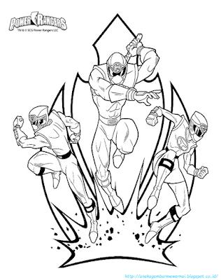 Mewarnai Gambar Power Ranger - 5
