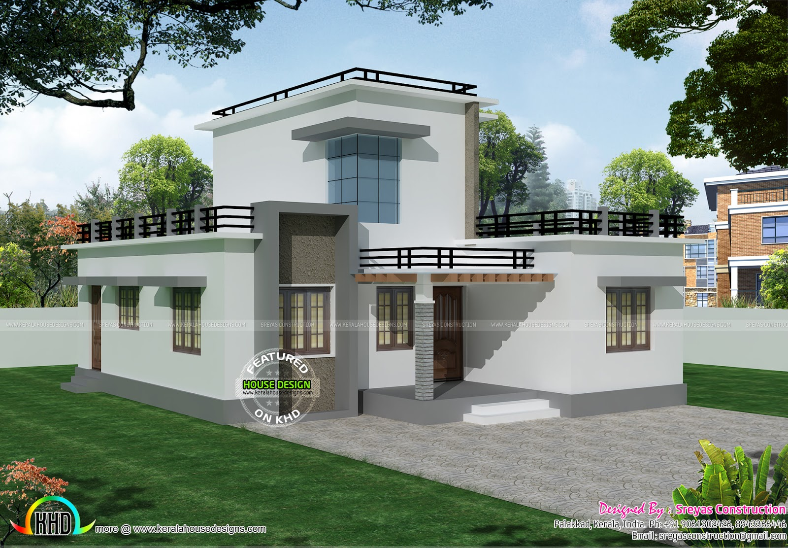 Small Bungalow House With Free Floor Plan And Interior