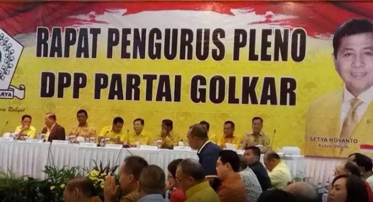 Pimpin Rapat Pleno Golkar, Novanto: Alhamdulillah, Semakin Membaik