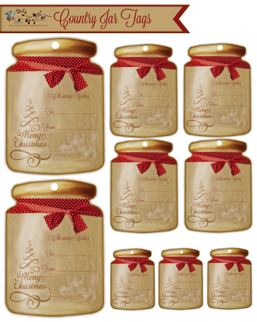 Country Jar Tags