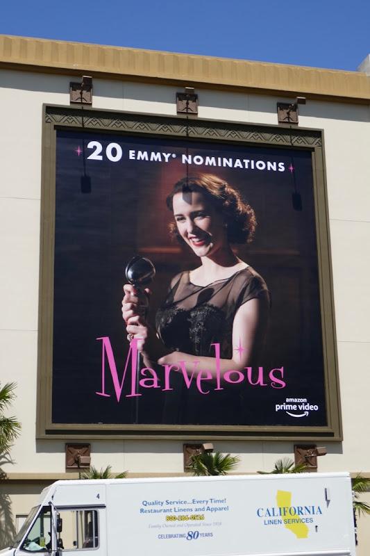 Mrs Maisel season 2 Emmy nominee billboard