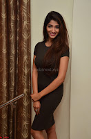 Priya Vadlamani super cute in tight brown dress at Stone Media Films production No 1 movie announcement 067.jpg