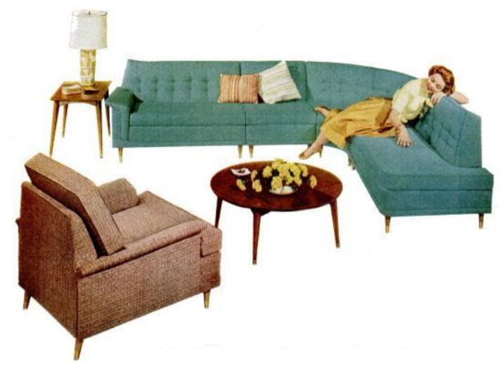 my pretty baby cried she was a bird kroehler furniture co couches 1958 1959. Black Bedroom Furniture Sets. Home Design Ideas