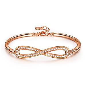 Nice bracelet £19.99  LADY COLOUR – Infinity – Bracelet for Women with Crystals from Swarovski – PARIS VOGUE collections