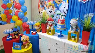 Decoração festa infantil Patrulha Canina