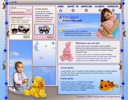 Download Free Beautiful Toy Store Website Templates