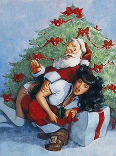 Christmas spanking art that a Disciplinarian or spanko will love