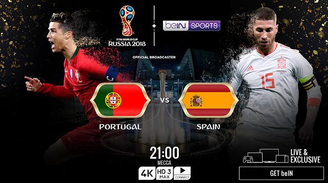 اهداف مباراة البرتغال وإسبانيا Portugal vs Spain في مونديال 2018 في روسيا