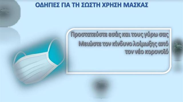 Οι αναλυτικές οδηγίες για τη χρήση μάσκας από τη Δευτέρα