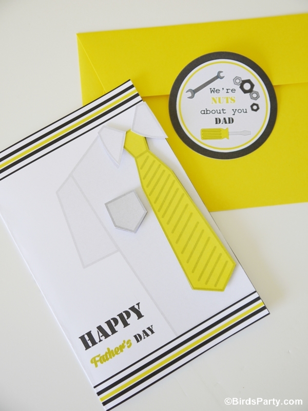free printable happy father s day 3d card party ideas party