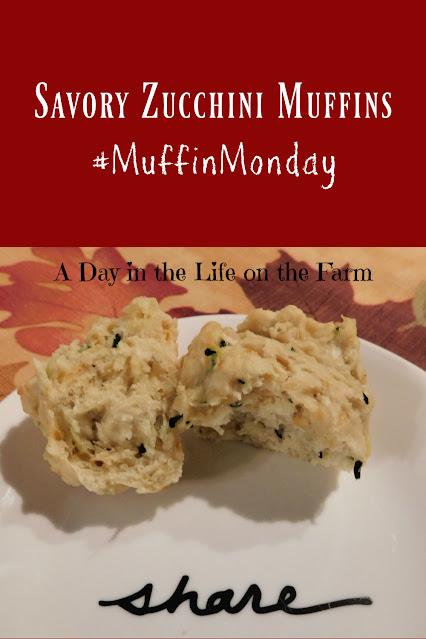 Savory Zucchini Muffins pin