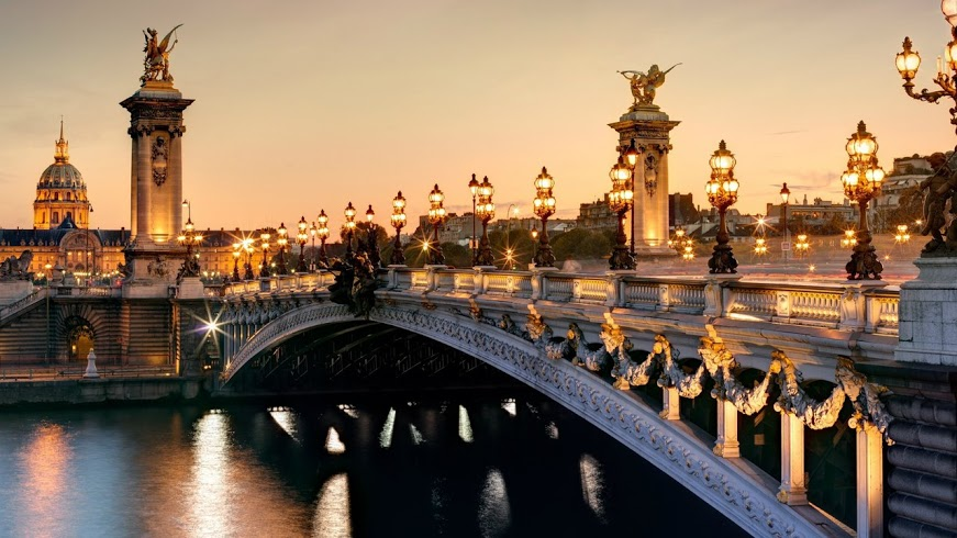 Pont Alexandre III in Paris, France