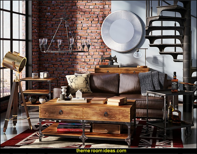 Living Room Ideas With Dark Wood Furniture Light Pink Decorating Theme Bedrooms - Maries Manor: Industrial Style ...