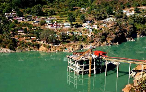 New Dhari Devi Temple after hydro power project