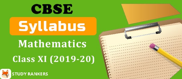 CBSE Class 11 Mathematics Syllabus 2019-20