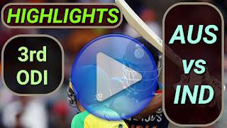AUS vs IND 3rd ODI 2020