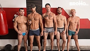 Shawn Reeve, Jeremy Spreadums, John Delta, Evan Marco & Griffin Barrows Train Me ,Part #4 (Bareback)