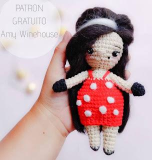 PATRON GRATIS AMY WINEHOUSE AMIGURUMI 44622