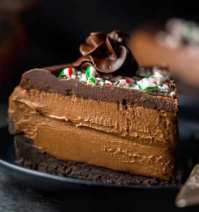 NO BAKE PEPPERMINT MOCHA CHEESECAKE