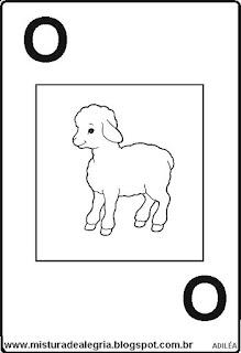 Baralho alfabético letra O