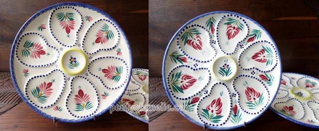 pentyofamelie offers a wide range of Quimper Henriot Pottery oyster plates