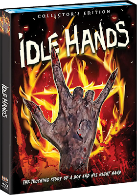 Cover art for Scream Factory's Collector's Edition Blu-ray of IDLE HANDS!