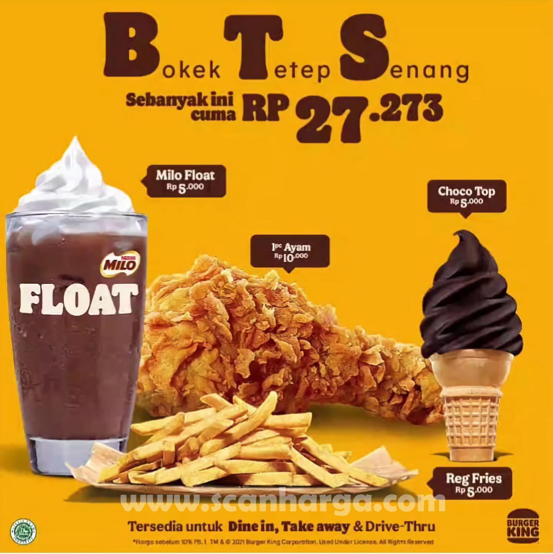 Promo BURGER KING BTS Paket BOKEK Tetap Senang 3