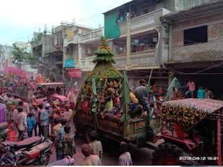 हजारों झांकियों ने नगर में निकाला चल समारोह, धूमधाम से बप्पा को विदा किया