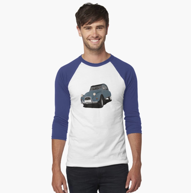 Dark boue  Citroën 2CV shirt