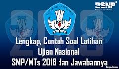 Lengkap, Contoh Soal Latihan Ujian Nasional SMP/MTs 2019 dan Jawaban