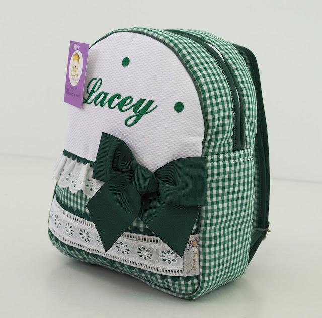 mochila colegio guarderia verde vichy