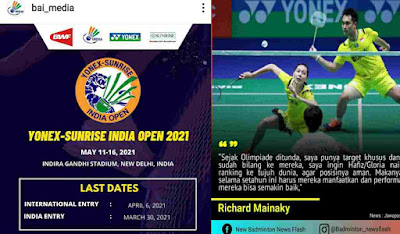 Covid-19 di India Parah, Turnamen Bulutangkis India Open Batal di Gelar