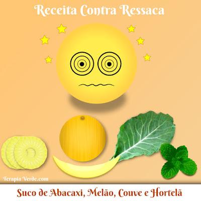 Receita Contra Ressaca: Suco de Abacaxi com Melão, Couve e Hortelã