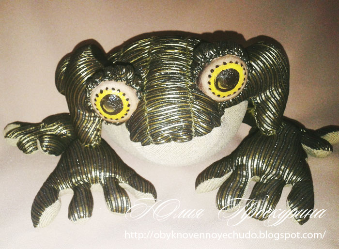 textile toy toad or frog