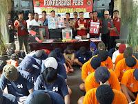 Periode Bulan Mei 2019, Polres Lampung Utara Ungkap 43 Kasus Tindak Pidana Dengan 53 Tersangka