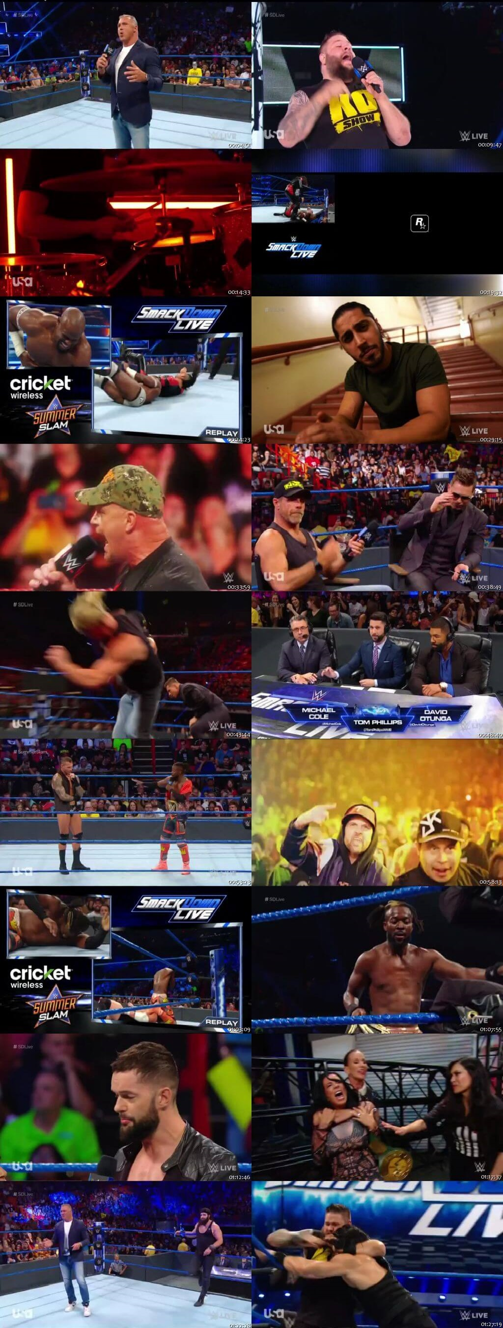 Screen Shot Of WWE SmackDown Live 23rd July 2019 HDTV 480P 300MB