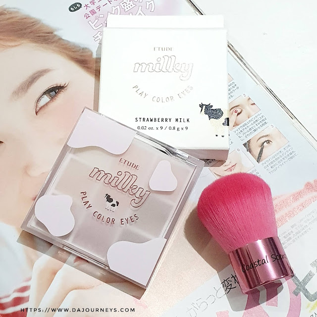 Review Etude House Milky Color Eyes Strawberry Milk