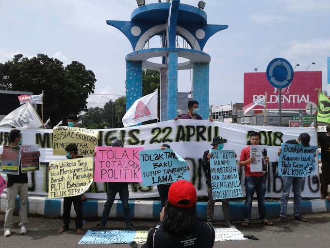 Aksi hari bumi, WALHI BENGKULU ingatkan krisis lingkungan di provinsi Bengkulu;