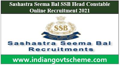 Sashastra Seema Bal SSB Head Constable