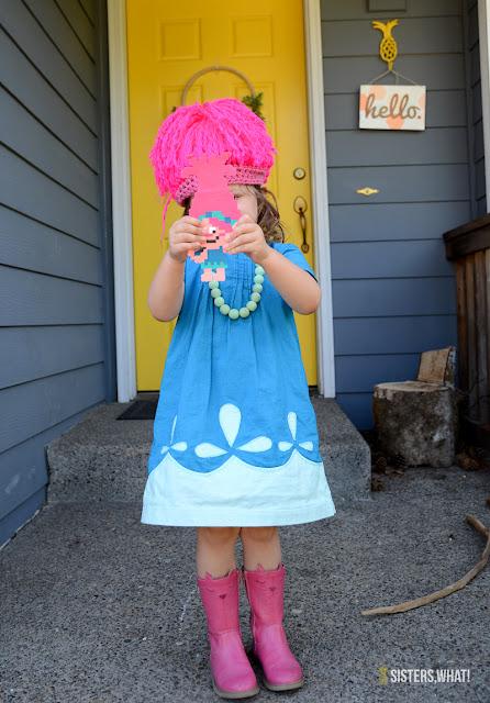 easy diy troll costume poppy